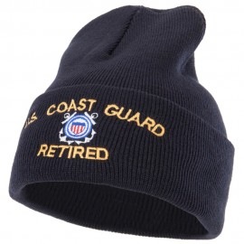 US Coast Guard Retired Embroidered Long Beanie