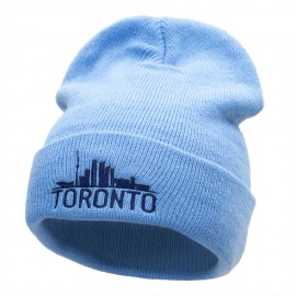 Toronto Skyline Embroidered 12 Inch Long Knitted Beanie