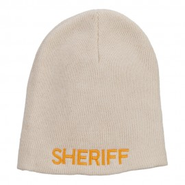 XL Size Sheriff Embroidered Cotton Beanie