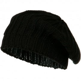 Acrylic Knitted Beret - Black