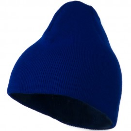 8 Inch Knitted Short Beanie - Royal