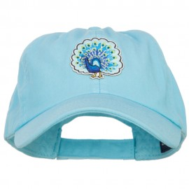 Peacock Bird Patched Low Profile Cotton Cap