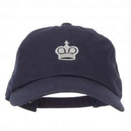 Chess King Embroidered Unstructured Washed Cap
