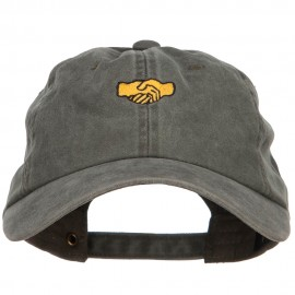 Mini Shaking Hands Embroidered Unstructured Cap