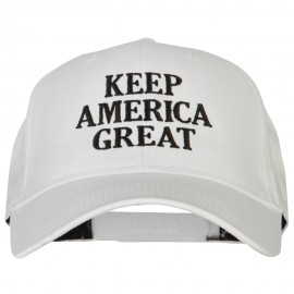 Keep America Great Three Line Letters Embroidered Solid Cotton Pro Style Cap