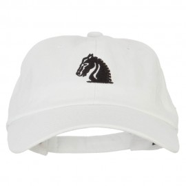 Chess Knight Symbol Embroidered Unstructured Washed Cap