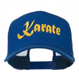 Karate Embroidered Mesh Trucker Cap