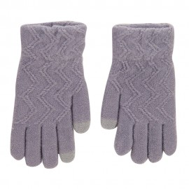 Women's Knit Texting Gloves - Dk Grey
