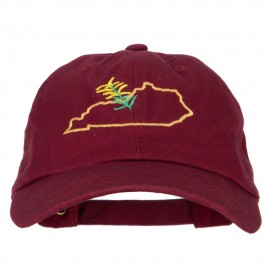 Kentucky Goldenrod with Map Embroidered Unstructured Washed Cap