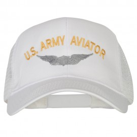 US Army Aviator Embroidered Solid Cotton Mesh Pro Cap