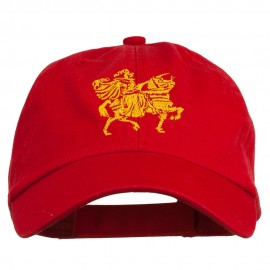 Knight on Horseback Embroidered Washed Cap