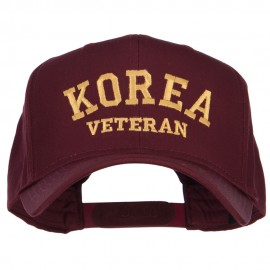 Korea Veteran Letters Embroidered Twill Cap