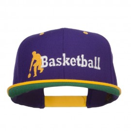 Basketball Player Embroidered Two Tone Snapback