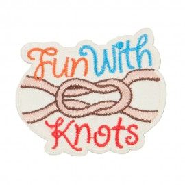 Knot Embroidered Patches