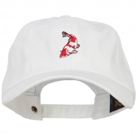 Koi Embroidered Unconstructed Cap