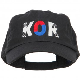 South Korea KOR Flag Embroidered Low Profile Cap