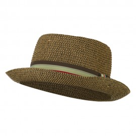 Kid's Pork Pie Stripe Band Fedora