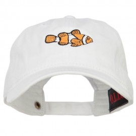 Clownfish Embroidered Washed Cotton Cap