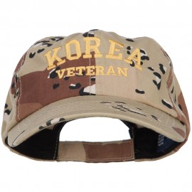 Korea Veteran Letters Embroidered Enzyme Camo Cap