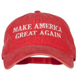 Make America Great Again Letters Embroidered Washed Cotton Twill Cap