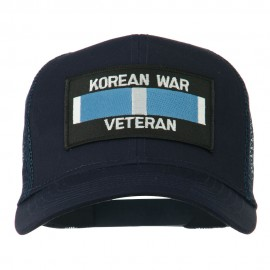 Korean War Veteran Patched Mesh Cap - Navy