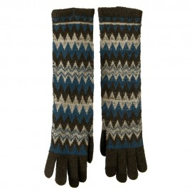 16 Inches Knit Texting Zig Zag Glove