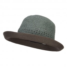 Women's Slanted Kettle Brim Hat - Teal Coffee
