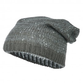 Knit Tam Beanie with Sequin