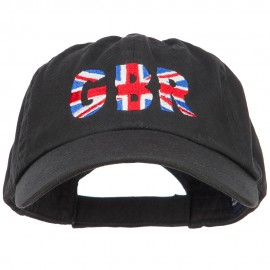 United Kingdom GBR Flag Embroidered Low Profile Cap - Black