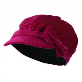Kids Velvet Newsboy Hat