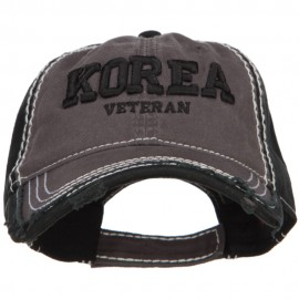 3D Korea Veteran Embroidered Vintage Frayed Cap