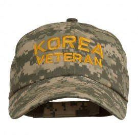 Korea Veteran Embroidered Enzyme Washed Cap