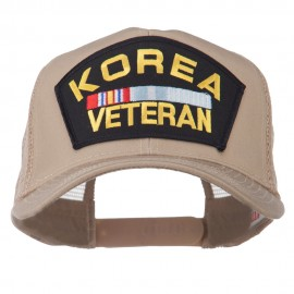Korea Veteran Military Patched Mesh Back Cap