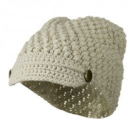 Woman's Knotted Woven Soft Brim Beanie