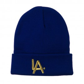 LA Embroidered Long Beanie
