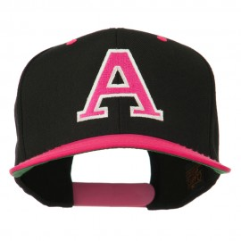 Large A Embroidered Snapback Cap