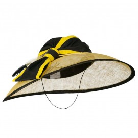 Two Tone Large Bow Fashion Sinamay Hat