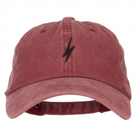 Lightning Bolt Embroidered Unstructured Cotton Cap