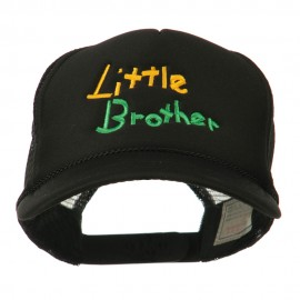 Little Brother Embroidered Youth Foam Mesh Cap - Black