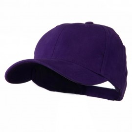 Cotton Twill Low Crown Cap - Purple