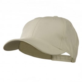 Cotton Twill Low Crown Cap - Stone