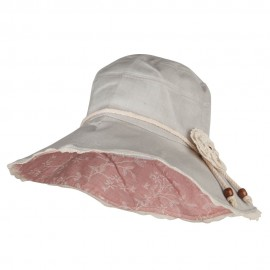 Rose Floral Laced Crushable Hat