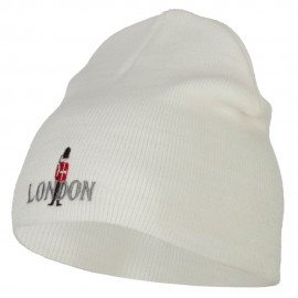 London Queen Guard Embroidered Knitted Short Beanie