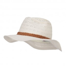 Lace Fabric Poly Panama Hat