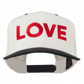 Love Embroidered Snapback Cap