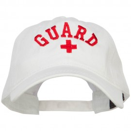 Life Guard Cross Embroidered Washed Dyed Cotton Cap