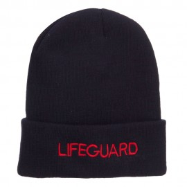 Lifeguard Embroidered Long Cuff Beanie