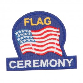 USA Flag Ceremony Embroidered Patches