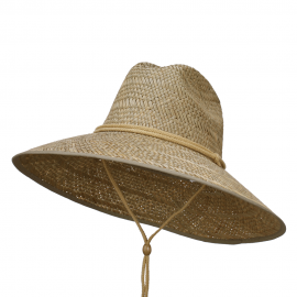 Man's Lifeguard Safari Straw Hat - Natural