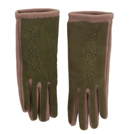 Women's Leather Suede Texting Glove